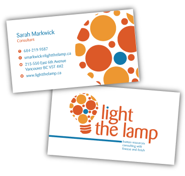 light the lamp business cards