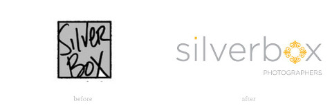 silverbox logo before and after