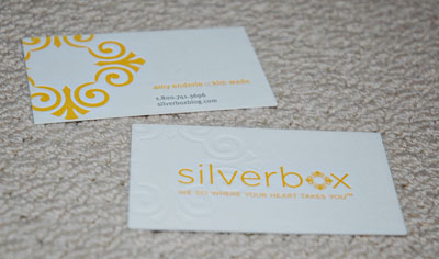 silverbox photographers business cards