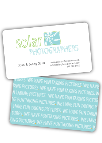 solar photographers business cards