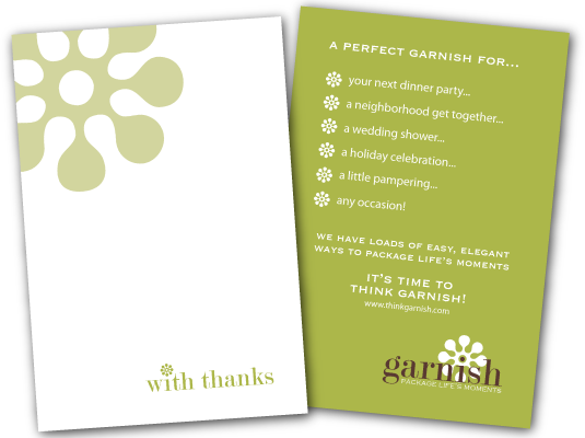 thinkgarnish.com thank you cards designed by a girl named fred