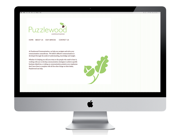 Puzzlewood Communication website designed by A Girl Named Fred