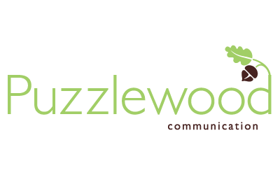 Puzzlewood Communication logo designed by A Girl Named Fred