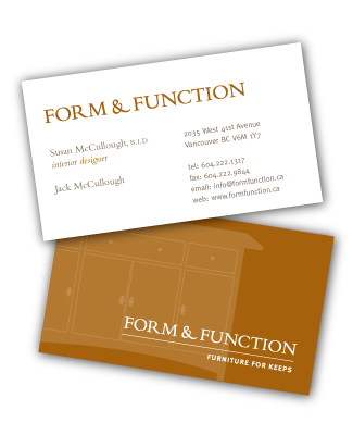 Form & Function business cards