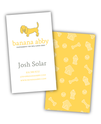 banana abby business cards