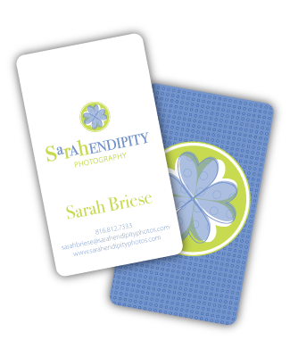 Sarahendipity Photography business cards