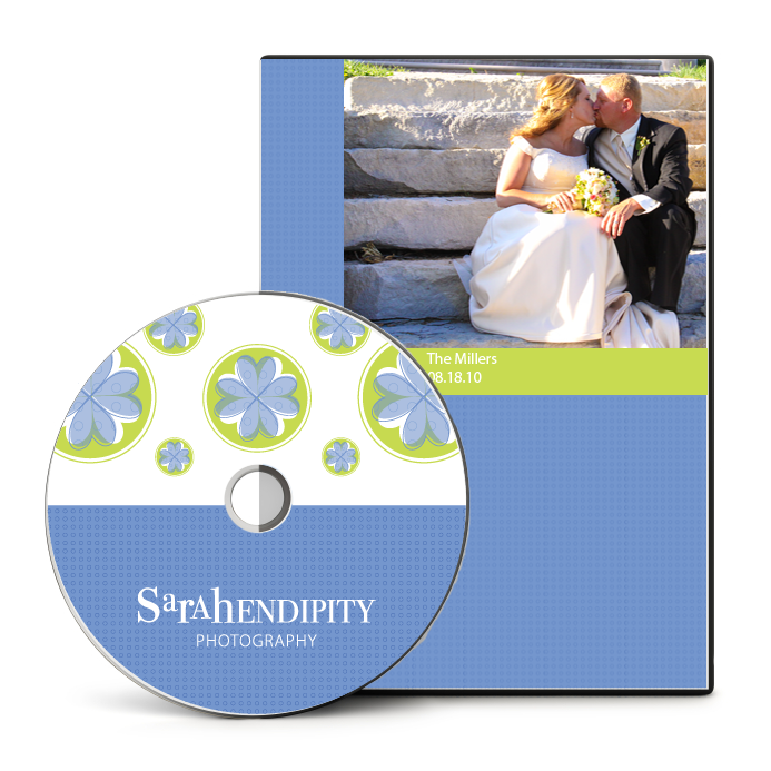 Sarahendipity Photography dvd packaging