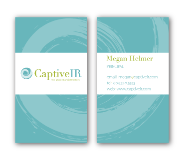 Captive IR business cards