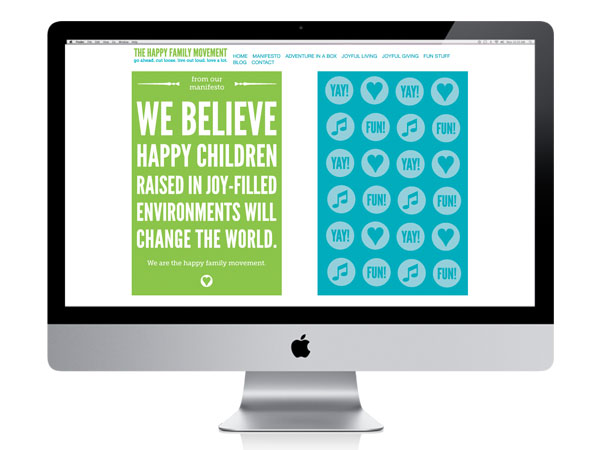 The Happy Family Movement website