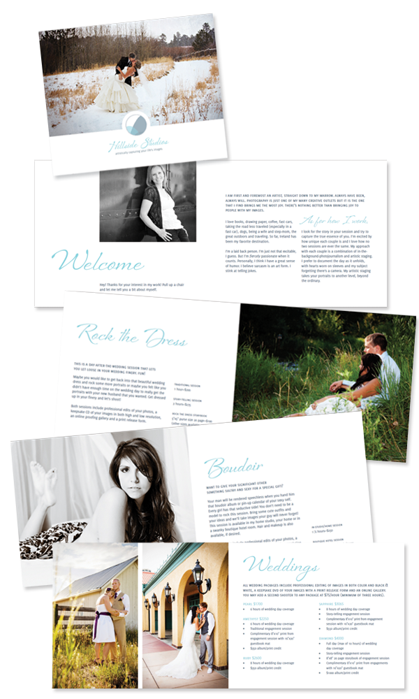Hillside Studios brochure designed by A Girl Named Fred