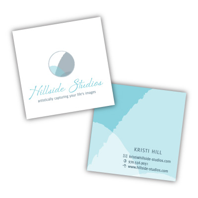 Hillside Studios business cards designed by A Girl Named Fred