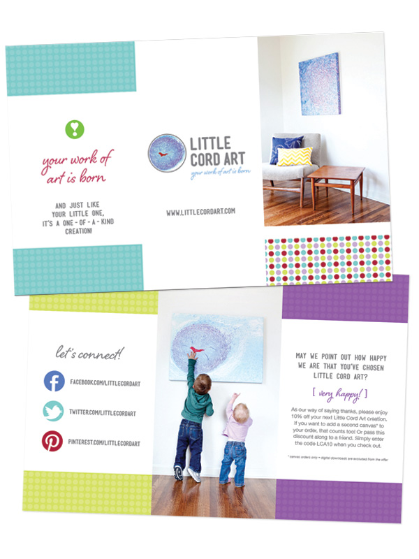 Little Cord Art welcome brochure