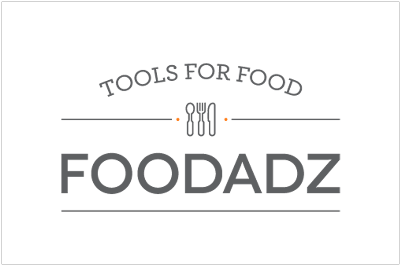 foodadz logo designed by a girl named fred