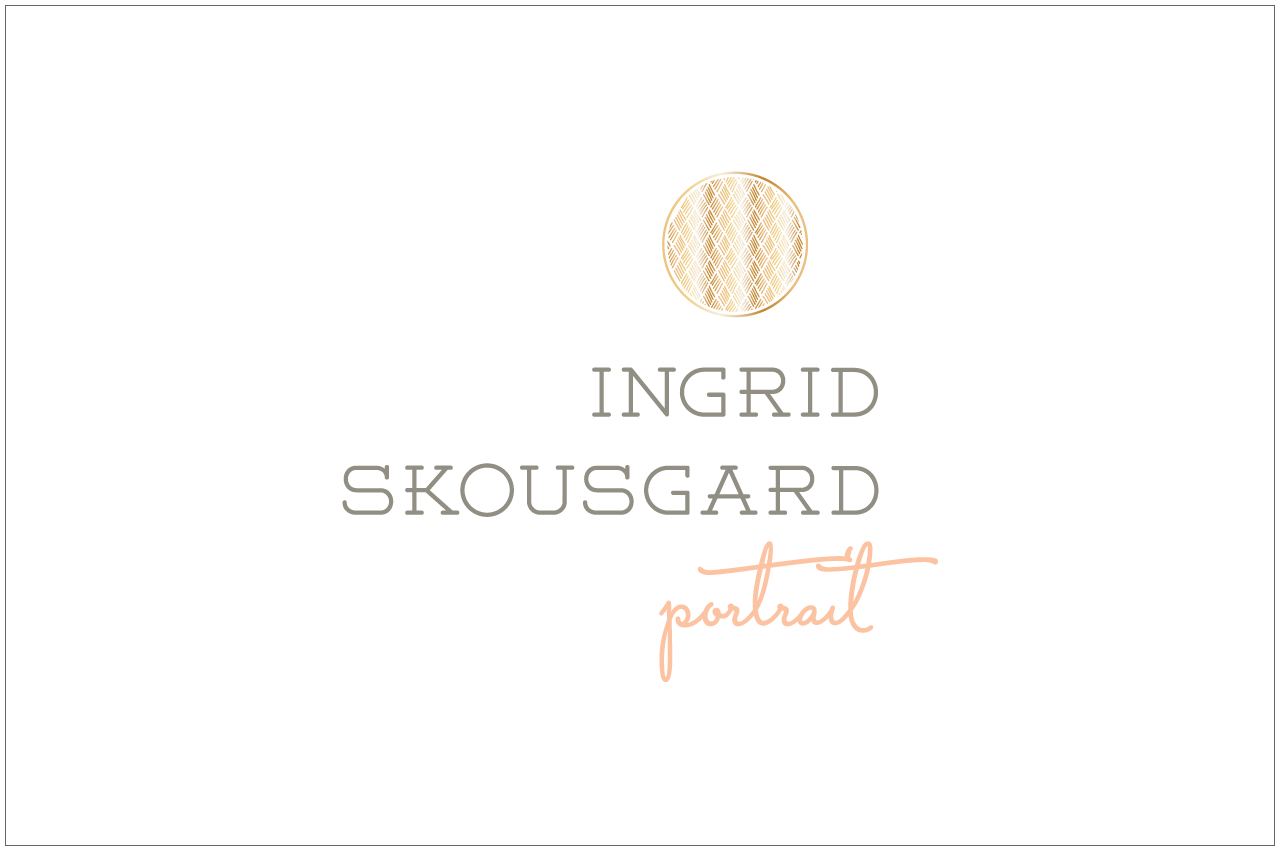 ingrid skousgard logo designed by a girl named fred
