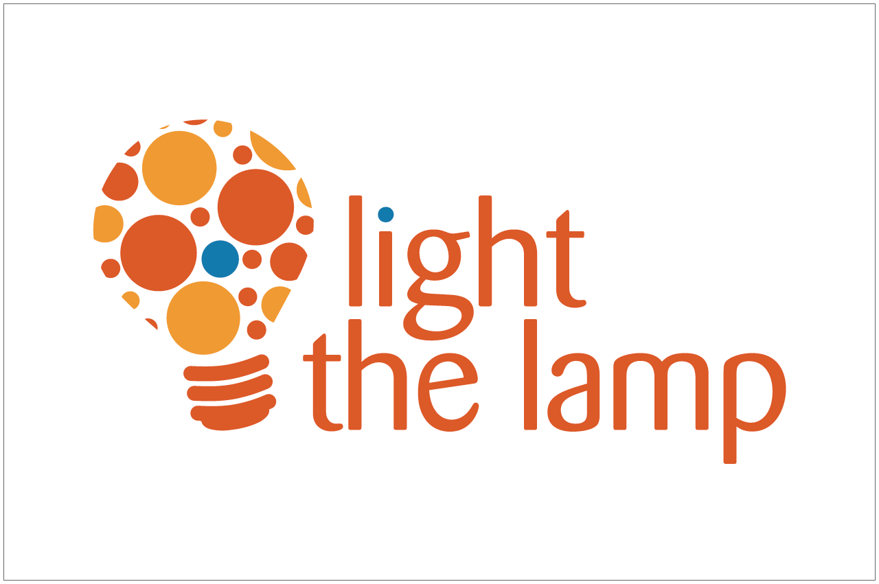 light the lamp logo designed by a girl named fred
