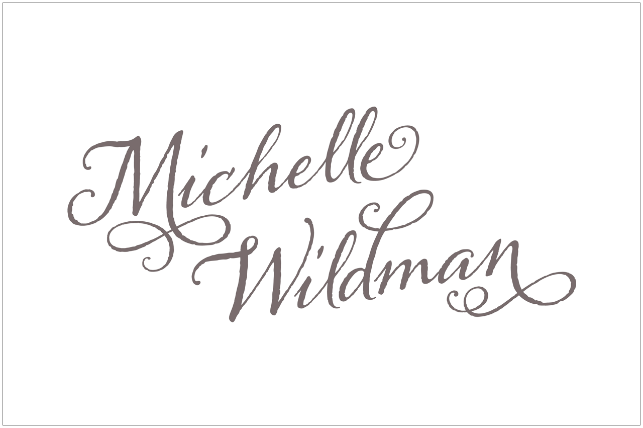 michelle wildman photography logo designed by a girl named fred