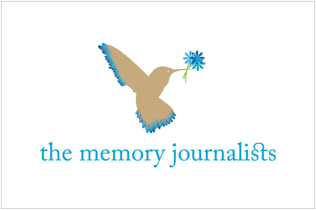 the memory journalists logo designed by a girl named fred