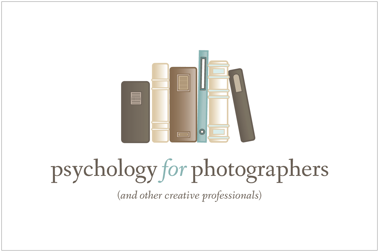 psychology for photographers logo designed by a girl named fred