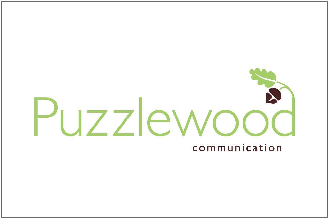 puzzlewood logo designed by a girl named fred