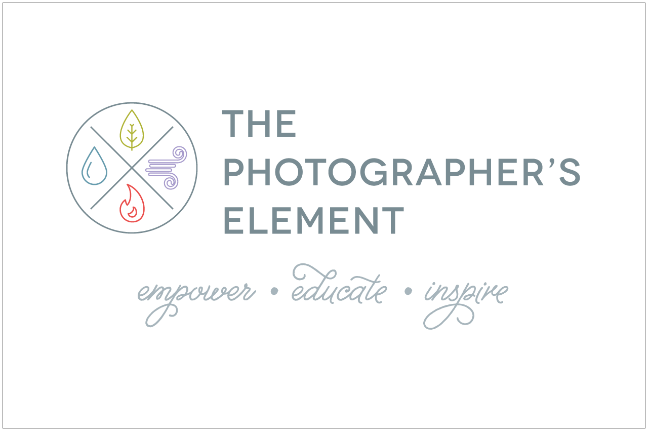 the photographer's element logo designed by a girl named fred