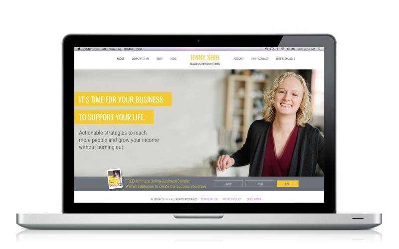 Jenny Shih website designed by A Girl Named Fred